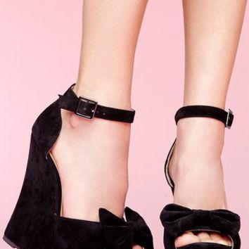 Dee Platform Wedge - Black