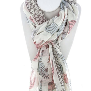 Fashion Scarf Zebra Print Scarf Pretty Scarf Women's Fashion Scarves Christmas Gift Stocking Stouffer -By PiYOYO