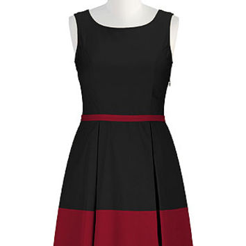 Retro style colorblock dress