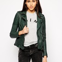 Muubaa Nido Leather Biker Jacket