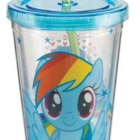Vandor 42114 My Little Pony Rainbow Dash Acrylic Travel Cup with Lid and Straw, 18-Ounce, Multicolor