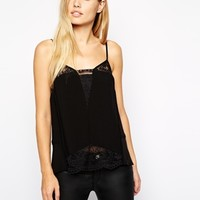 Whistles Amos Cami with Lace Insert at asos.com