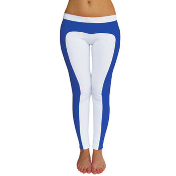 White leggings custom yoga pants fitness clothing activewear