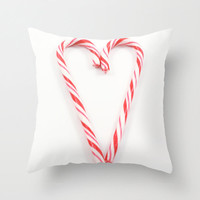 Christmas Pillows Candy Cane Holiday Pillow Cover Festive Home Decor Modern Home Design Red Pillow White Pillow Covers Handmade in Canada