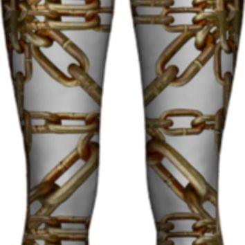 Chain Pattern Collage All Over Printed WOMEN LEGGING PAOM-VFS created by Rudimencial Design   Print All Over Me