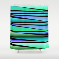 Shards Shower Curtain by Lyle Hatch