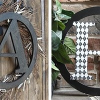 They're Back! 15 Inch Unfinished Single Letter Wooden Monograms