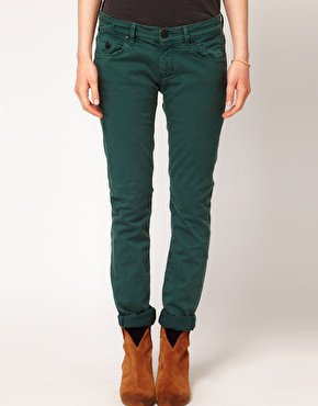 Maison Scotch Parisienne Skinny Ankle Jean in Coloured Twill at asos.com