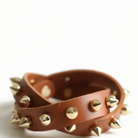 Rebel Days Leather Studded Bracelet - $36.00 : ThreadSence.com, Free-spirited fashion for the indie-inspired lifestyle