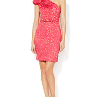 Corded Laser-Cut Lace Dress by Marchesa at Gilt