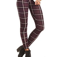 COTTON PLAID LEGGINGS