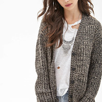 FOREVER 21 Marled Knit Longline Cardigan