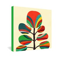 Budi Kwan Whimsical Colorful Tree Gallery Wrapped Canvas