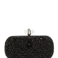 Lily Embroidered Stone Box Clutch by Marchesa at Gilt