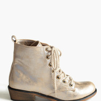 Metallic Spotlight Boots - $69.00 : ThreadSence.com, Free-spirited fashion for the indie-inspired lifestyle