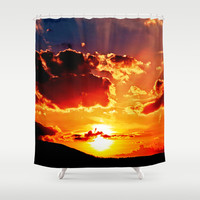 Cloudy colored sundown   Shower Curtain by Pirmin Nohr