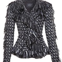 LANVIN | Frayed Tweed Jacket | Browns fashion & designer clothes & clothing