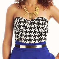 houndstooth-bustier BEIGENAVY IVORYBLACK - GoJane.com