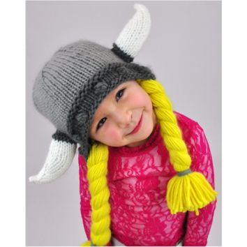 NEON EATERS | Kids Viking beanie hat with horns