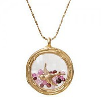 large double branch locket (18k vermeil) [N322V + N577V ruby/bird] - $280.00 : Catherine Weitzman Jewelry, :: California :: Hawaii :: New York ::