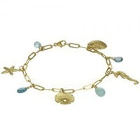 sealife charm bracelet (18k vermeil) [B113V] - $175.00 : Catherine Weitzman Jewelry, :: California :: Hawaii :: New York ::