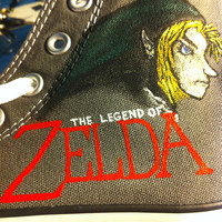 Legend of Zelda Painted Shoes - Men&#x27;s Size 6 / Women&#x27;s Size 8