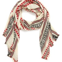 Sole Society Lightweight Fair Isle Scarf | Nordstrom