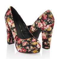 Floral Platform Pumps