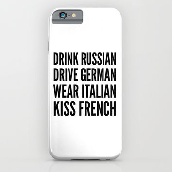 Russian German Italian French iPhone & iPod Case by CreativeAngel | Society6