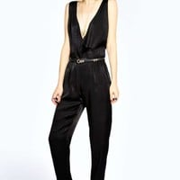Boutique Verity V Neck Low Side Jumpsuit