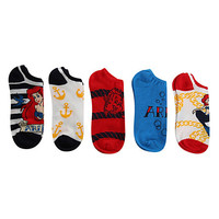Disney The Little Mermaid No-Show Socks 5 Pair