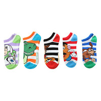 Disney Toy Story Striped No-Show Socks 5 Pair