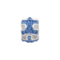Persona Sterling Silver Blue Crystal Autism Speaks™ Bead
