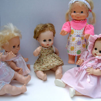 Vintage Dolls Baby Destach Detrash Galoob and Whoopsie cij 1970