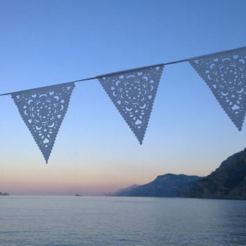 Luury White Wedding Bunting