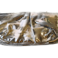 Free Shipping: Silver Grey Clutch Bag Clutch Purse Evening Bag