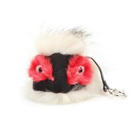 fendi - bag bugs charm with fox, mink and rabbit fur