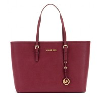 michael by michael kors - medium jet set travel leather tote