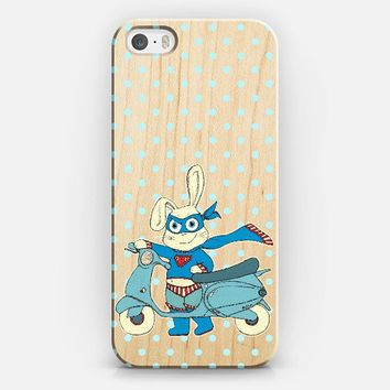 Be-All-You-Can-Be Bunny on Wood iPhone 5s case by Micklyn Le Feuvre | Casetify
