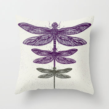 Dragonfly  Throw Pillow by rskinner1122