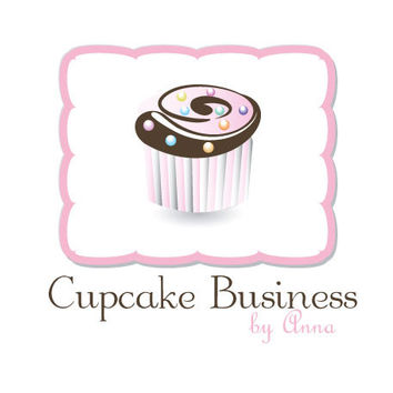 Logotype - branding - Sweet and perfect logo for a cupcake or cake design business