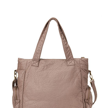Pebbled Faux Leather Tote