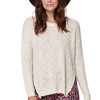 Lush Cross Back Pullover Sweater - Womens Sweater - White