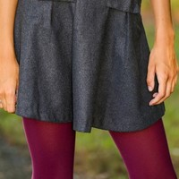 Time Stands Still Skirt-Charcoal