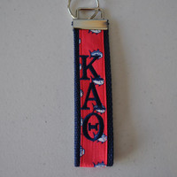 Southern Tide  Fish Sorority(OFFICIAL LICENSED PRODUCTS) Monogrammed Key Fob Keychain Cotton Webbing Wristlet