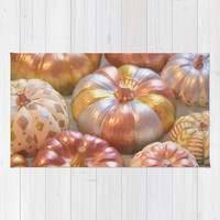 Opulent Pumpkins Area & Throw Rug by Lisa Argyropoulos