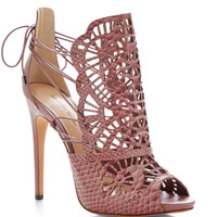 Cut-Out Python Sandals by Alexandre Birman - Moda Operandi