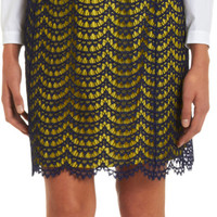 Carven Lace Overlay Straight Skirt Sale up to 70% off at Barneyswarehouse.com