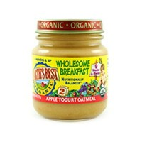 Earth`s Best Organic 2nd Wholesome Breakfast, Apple Yogurt Oatmeal, 4.5-Ounce Jars (Pack of 12)
