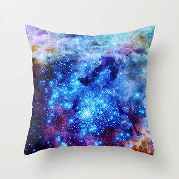 Space Has Natural Glitter Throw Pillow by 2sweet4words Designs